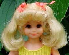 1143 Mattel Living Fluff doll head 1971
