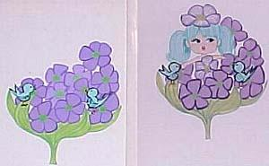 8571 Violet doll Original Artwork