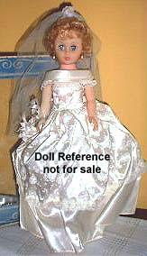 1960s Allied Grand Bride Doll 18""