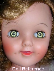 1960s Allied Grand Shirley Temple doll 19""
