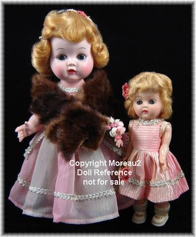Block 1957 Little Miss Addie & 1958 Little Miss Addie's Sister dolls