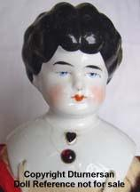 1905's  low brow jewel neck china head