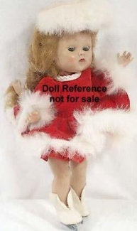 Cosmopolitan Ginger Ice Skating doll 1955