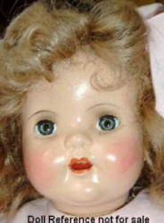 Late 1920s-1930s Gem Toy Mama Doll, 29""