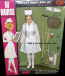 1967 GI Nurse Action Girl, 11 1/2""