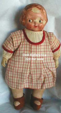 ca. 1910 Horsman Campbell Kid doll, 10""