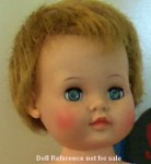 "1958 Ideal Baby Coos doll 19"" with rooted hair"
