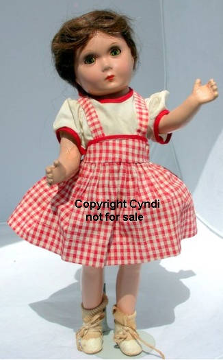 "ca. 1935-1940s Sybil Jason doll, 14"" a child actress star"