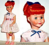 1959-1960s Jolly Toy Jinx doll, 20""