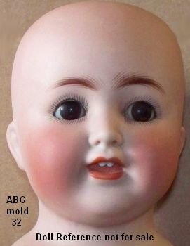 K and K Toy, bisque head doll mold 32