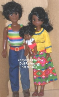 1974 Mattel Happy Family dolls Hal, Hattie & baby Hon