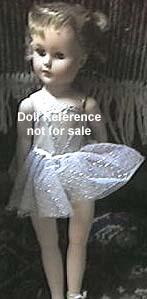 ca. 1956 Paris Nadia Walking Ballerina doll 18""