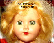 1950s PMA Bride doll face, 11""