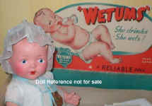 1939 Reliable Wetums doll, 12""