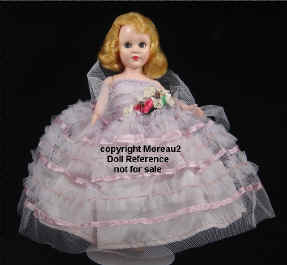 "1950's Richwood Sandra Sue doll is 8-9"" tall"