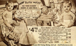 Ideal Betsy Wetsy doll.  1937 Sears ad