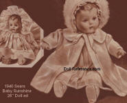 Sears 1940 Baby Sunshine doll ad page 61