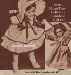 Sears 1940 Miss Sunshine . . the Wardrobe doll ad page 60