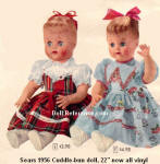 Sears 1956 Eegee Cuddle-bun doll ad