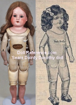Sears Armand Marseille 370 mold, Dainty Dorothy doll