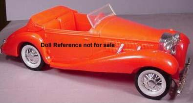 Mego Sonny and Cher doll's rare red roadster car 1977