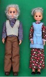 Grandpa & Grandma Sunshine dolls