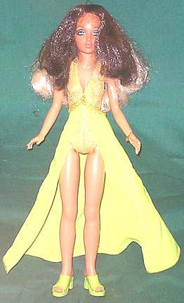 Tiffany Taylor doll with hair flipped to dark