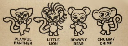 Mattel Liddle Kiddle Zoolery animals 1969