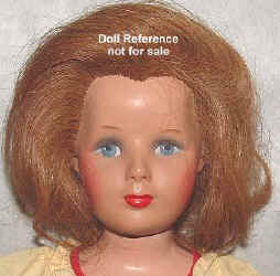 Monica Doll Face, composition, rooted human hair