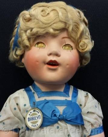"ca. 1935 Acme Toy Co. Marilyn doll 30"" tall"