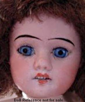 1918 Aich, Menzel bisque head Dolly face doll 13""