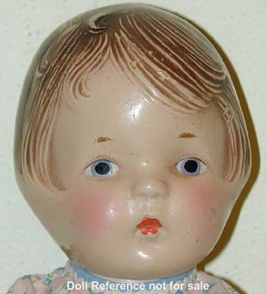 "1930s Averill, Blossom Peaches doll, 14"", Patsy type"
