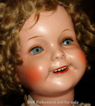 "Carl Bergner, Shirley Temple look a like, 23"" doll mark CB Germany"