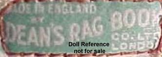 Deans Rag Book doll mark label