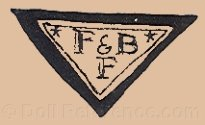 late 1920s doll mark; F & B F inside a triangle