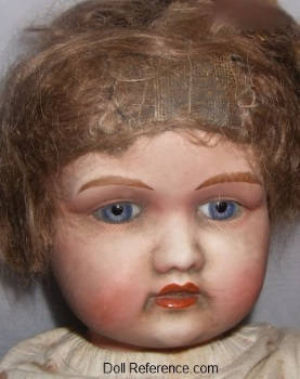 Goss & Company bisque head doll face English