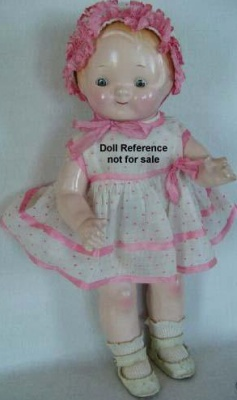1928 Horsman Peterkin girl doll, 14""