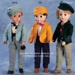1952 Alexander Little Men dolls; Stuffy, Nat, Tommy Bangs dolls 14""