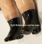 1912 Mitred Box Coquette doll black boots