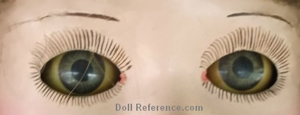Jessie McCucheon Raleigh sleep doll eyes, lashes