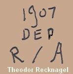 Recknagel doll mark 1907 DEP R / A