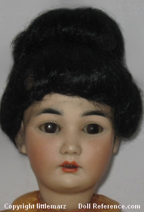 Simon & Halbig bisque head, antique Oriental doll mold 1329