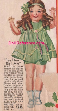 "1933 Spiegel Big Girl Doll, 27"" ad"