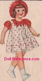 Spiegel 1933 Snappy Brunette doll, 21""