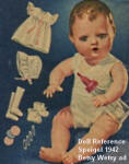 Spiegel 1942 Ideal Magic Skin Betsy Wetsy Doll 11""
