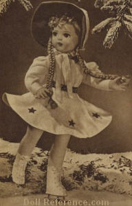 Spiegel 1942 Horsman Little Queen of the Skaters doll (Horsman Bright Star doll)