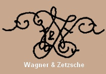 Wagner & Zetzsche elaborate intertwined initials doll mark