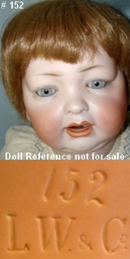 Hertel & Schwab 152 doll mold for Louis Wolf
