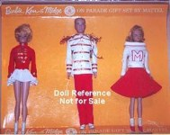 1014 Barbie & Ken on Parade Gift set 1964