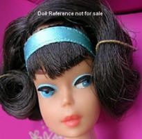 1070 Barbie 1965 American Girl side-part hairstyle